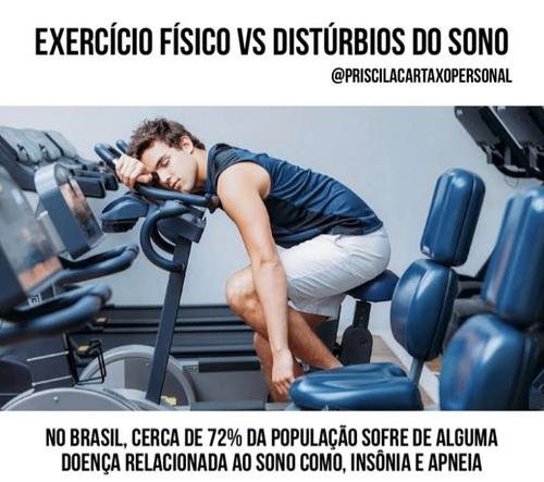 EXERCÍCIO FÍSICO X DISTÚRBIOS DO SONO
